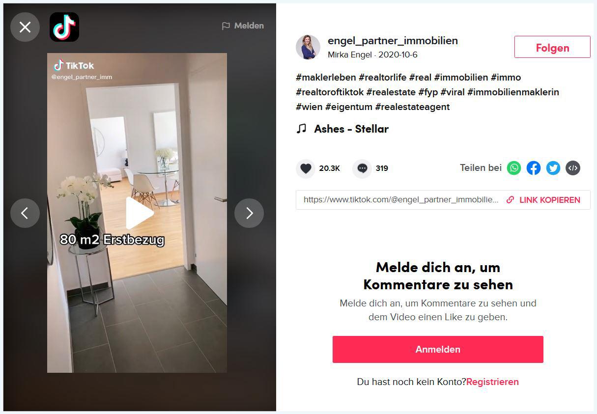 Engel & Partner Immobilien bei TikTok