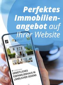 Grafik perfektes Immobilienangebot auf der Website