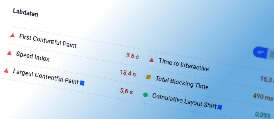 Google Core Web Vitals Grafik